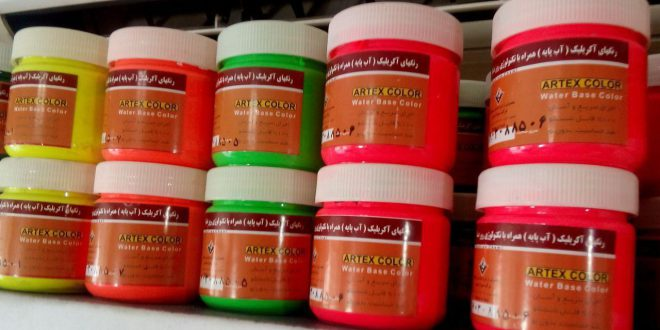 خرید و فروش عمده اینترنتی رنگ های اکلیل فسفری و تزئینی