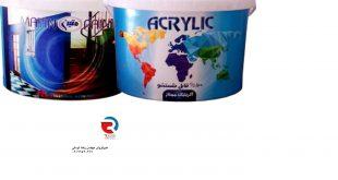 فروش مستقیم رنگ اکرلیک سفید شرکت رنگسازی متین