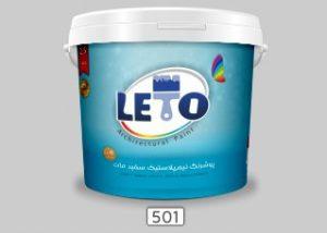 رنگ ساختمانی نیم پلاستیک مات LETO لوکس